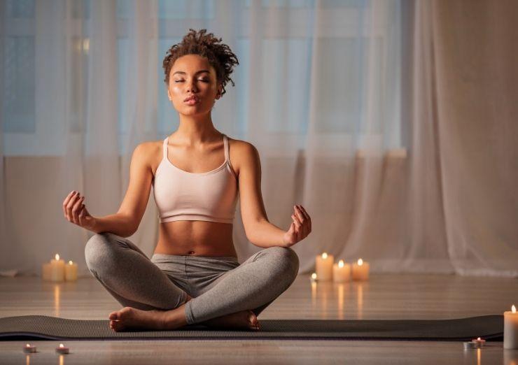 Me senté a meditar