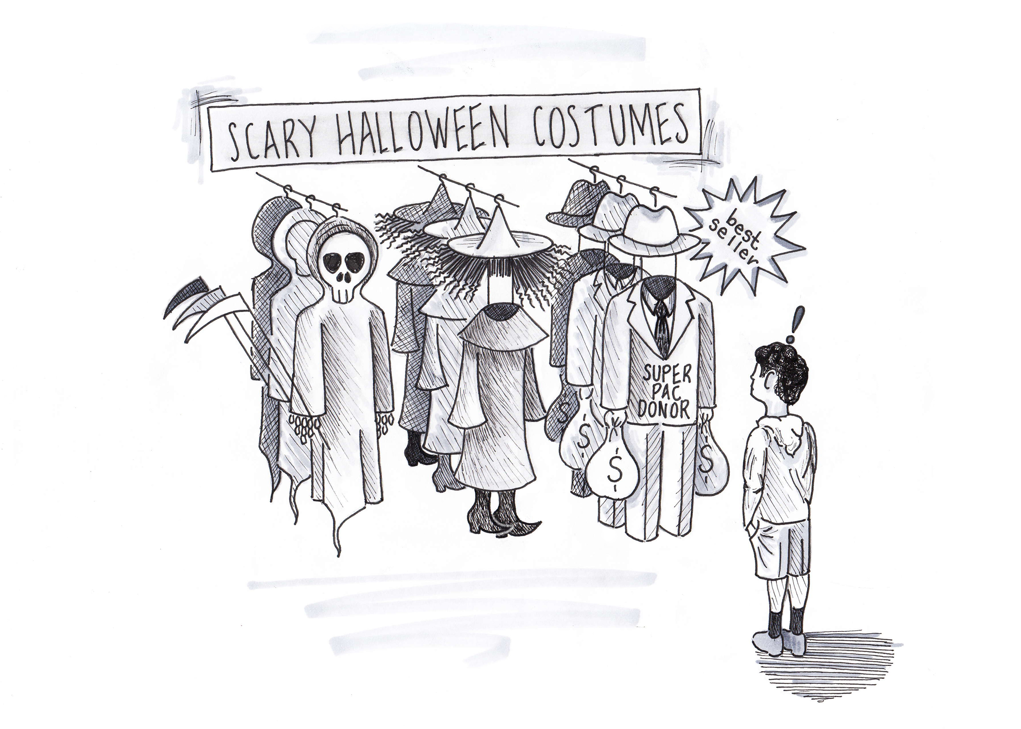 Cartoon of the week 9: Scary Halloween Costumes