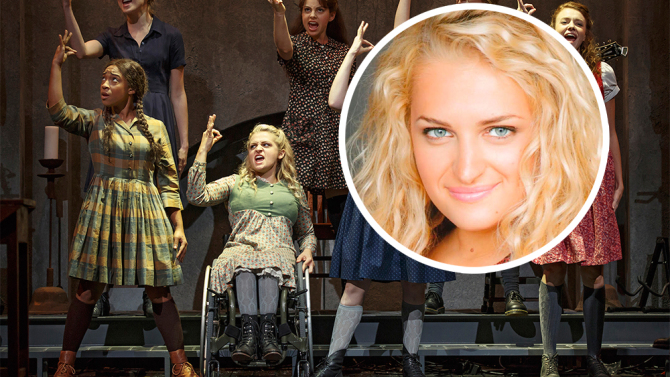 wheelchair glee baby sitting chair for car interview with broadway star ali stroker: making history in a – hs insider