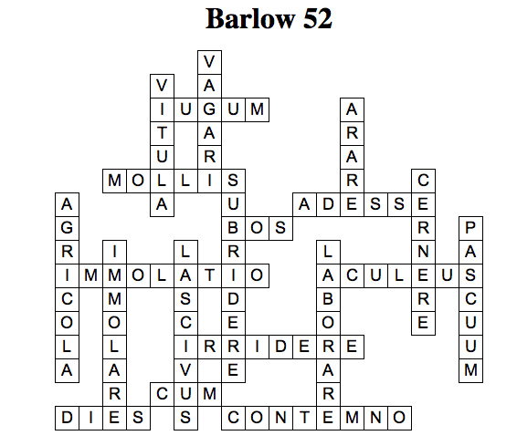 Latin Crosswords: De Vitula et Bove