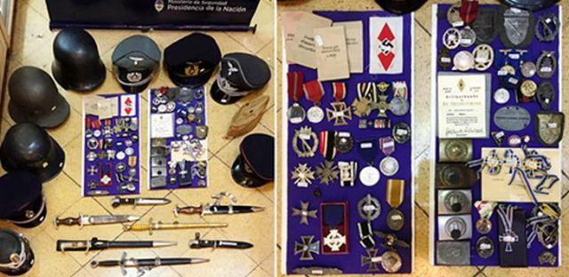 Der Händler bot die Nazi-Relikte auf einer Website an, Medaillen und Helme kosteten bis zu 450 US-Dollar