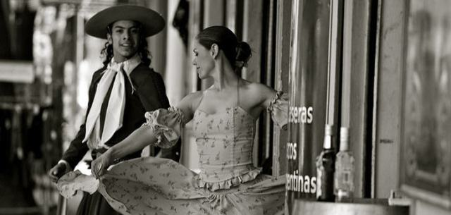 Tango auf den Straßen der argentinischen Hauptstadt