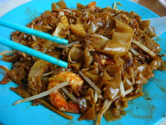 Char kway teow, Singapore-Chinese noodles