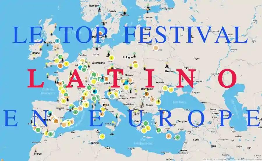 Carte des festivals de musique et danse latine : le top de la planète salsa en Europe!