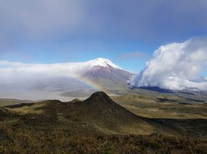 Late afternoon view of Cotopaxi from Rumiñahui
