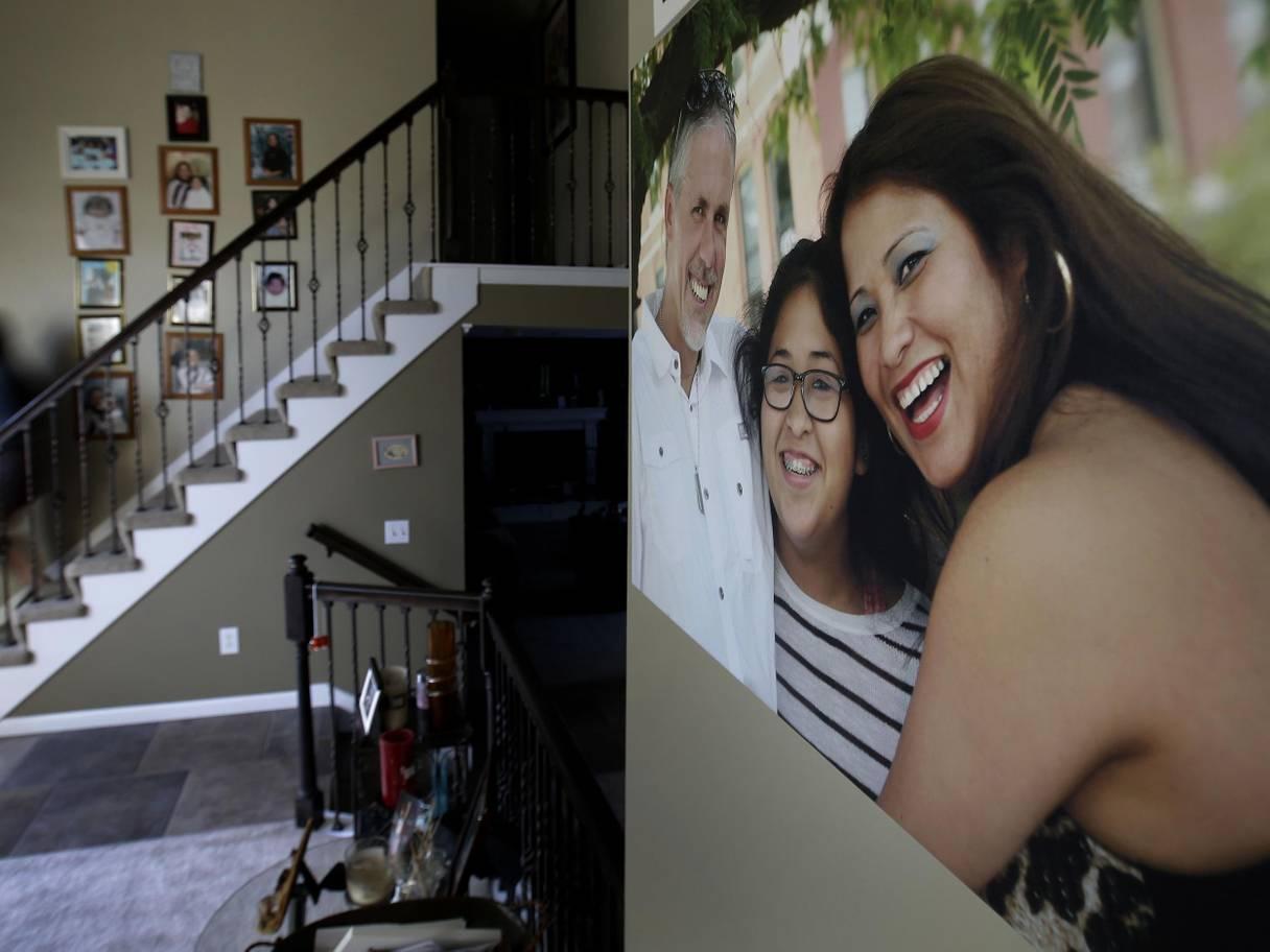 Letty family photo staircase