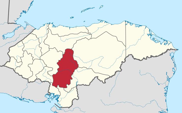 Mapa del distrito escolar Francisco Moratan de Honduras