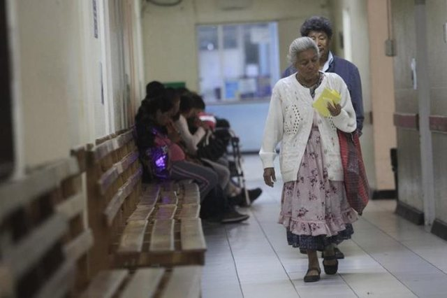 woman in hospital in Guatemala