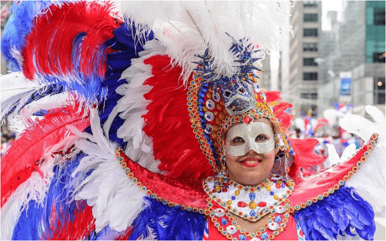 New York City's Dominican Day Parade on the Avenue of the Americas