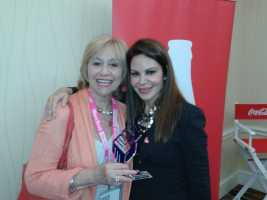 With fabulous Nelly Galan