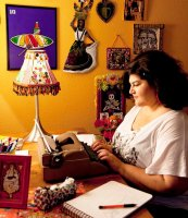 kathy-cano-murillo-working at her desk