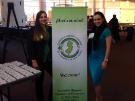 Erica and Diana welcome participants at SHCCNJ Health and Wellness FAir 2014