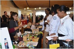 Exhibitors at the 2014 First Health and Wellness Fair.