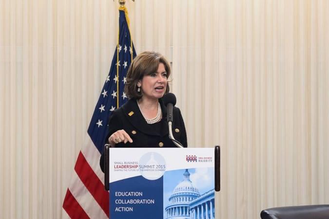 Maria Contreras Sweet at the Small Business Majority Summitt 2015