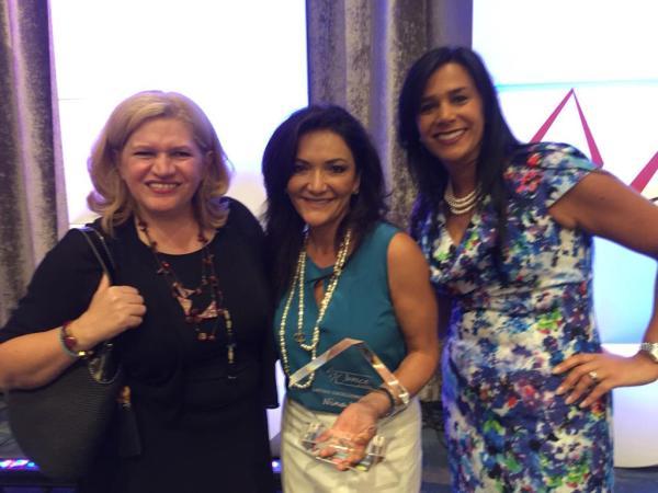 Nina Vacca, Yvonne Garcia, Josefina Bonilla at the Women of ALPFA Luncheon.