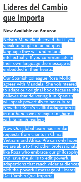Rosa Mollo book announce