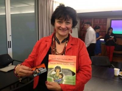 Graciela Tiscareno-Sato with her awarded children's book
