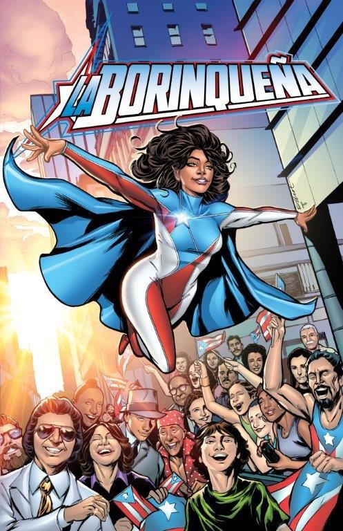 La Borinquena Superheroe creation that contributes to Puerto Rican students' scholarships