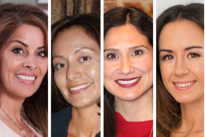 (L to R) Frances Prado, Hipatia Lopez, Victoria Flores, Francesca Kennedy