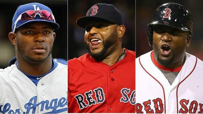 Yasiel Puig, Los Angeles Dodgers; Pablo Sandoval, Boston Red Sox; David Américo Ortiz Arias, Boston Red Sox Latino managers