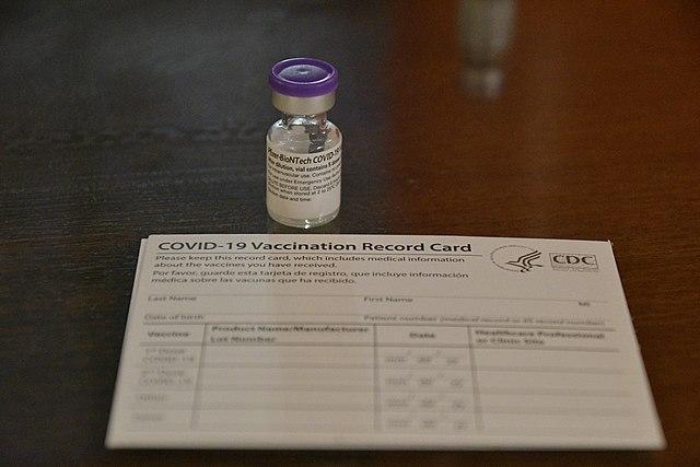 COVID-19 vaccine card