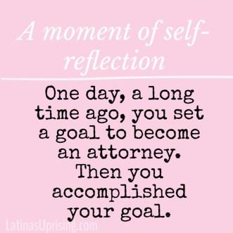 self-reflection law graduation