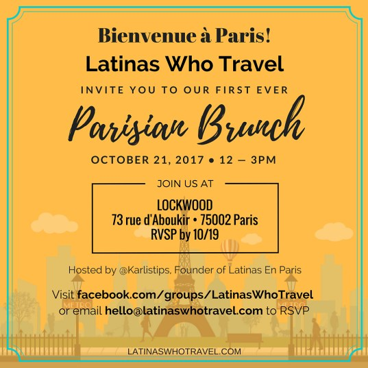 Latinas Who Travel Parisian Brunch - Latina Travelers - Paris - France