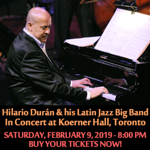 Hilario Durán & His Big Band Return to Koerner Hall on Feb 9 2019