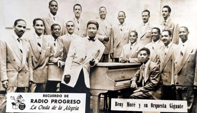 Beny Moré and his Orquesta Gigante at Radio Progreso in Havana in the late 1950s