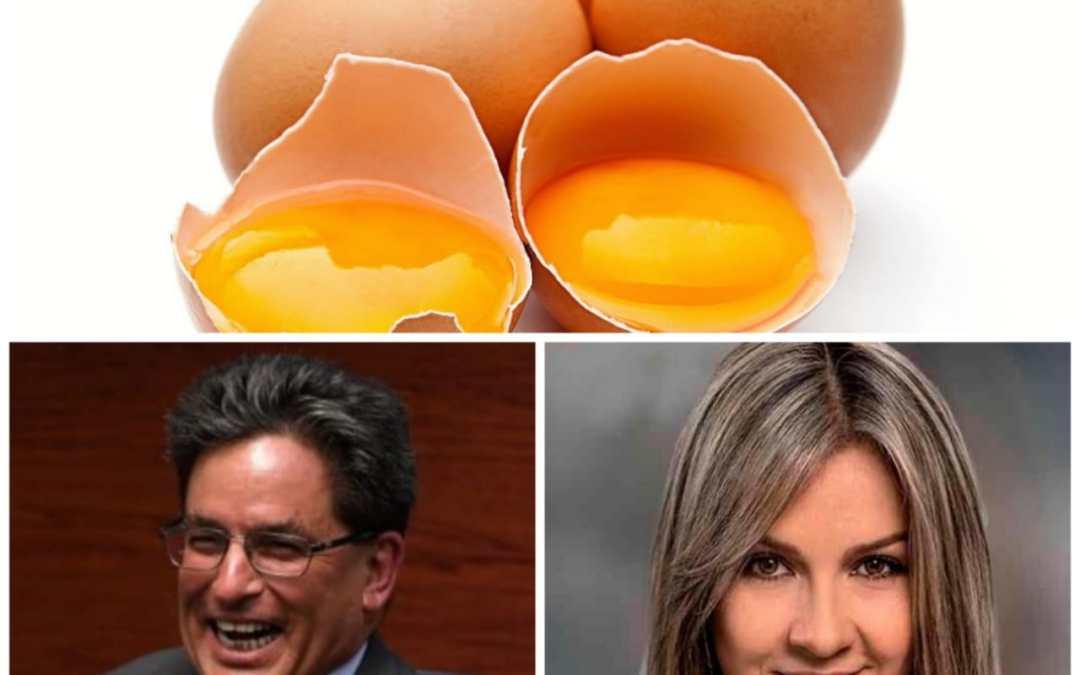 Docena de Huevos a $ 1.800 en la Polombia de Vicky Dávila y Alberto Carrasquilla.
