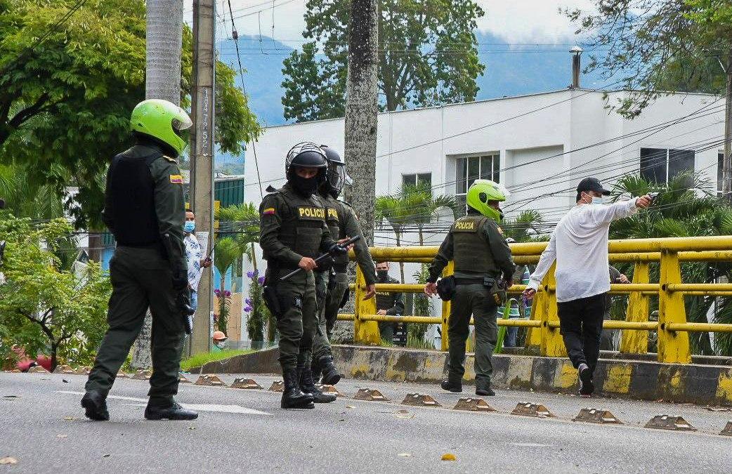 """Policía anuncia investigaciones por hombres de civil que """"presuntamente dispararon"""" contra manifestantes en el sector de Ciudad Jardín"""