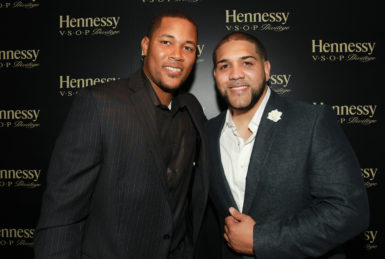 New York Mets pitcher Jeurys Familia and DJ New Era are seen at Hennessy V.S.O.P Privilege Celebrates Hennessy All-Star Jeurys Familia at Stage 48 on Monday, June 20, 2016, in New York. (Photo by Donald Traill/Invision for Hennessy V.S.O.P Privilege/AP Images)