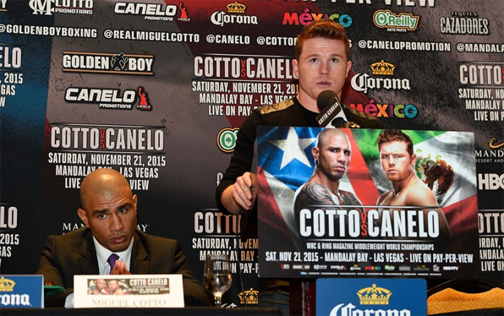 Miguel Cotto and Canelo Alvarez