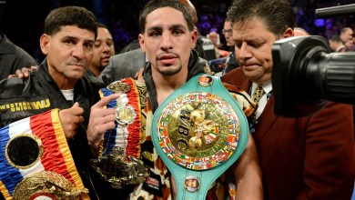 Photo of Garcia proud to be a champion and at welterweight