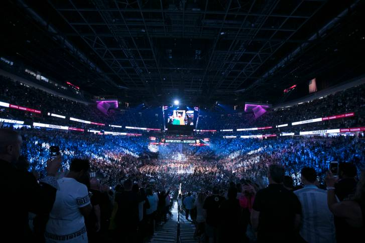 Mayweather vs McGregor T-Mobile Arena