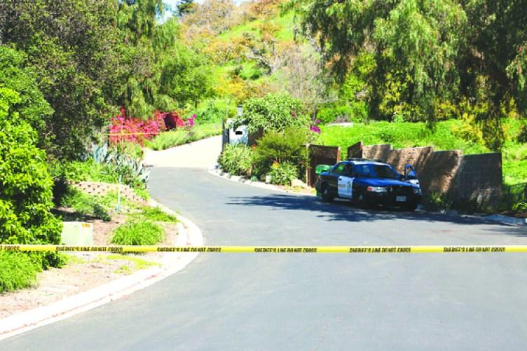 Fuerzas del orden estuvieron rodeada la exclusiva zona donde estaba la mansión de 4800 pies cuadrados y 7 acres de extensión del Dr. Han, en las faldas de la Ciudad de Santa Bárbara.