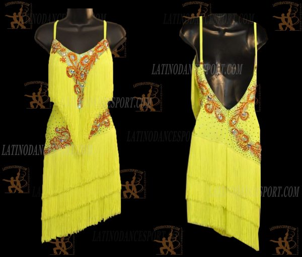 LATINODANCESPORT.COM-Ballroom LATIN RHYTHM Dance Dress-LDS-06