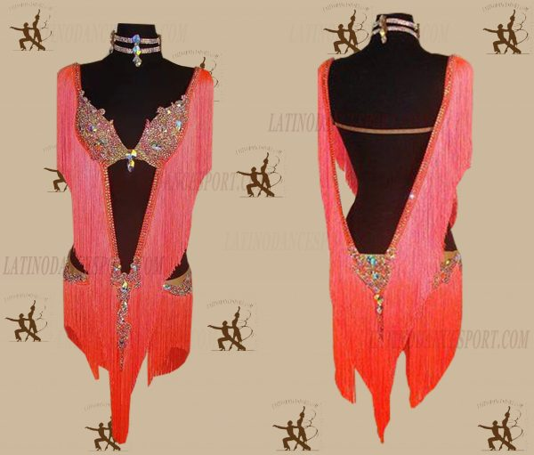 LATINODANCESPORT.COM-Ballroom LATIN RHYTHM Dance Dress-LDS-12
