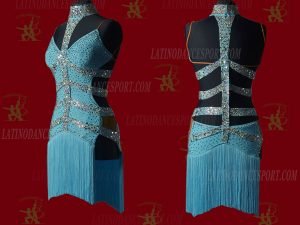 LATINODANCESPORT.COM-Ballroom LATIN RHYTHM Dance Dress-LDS-22