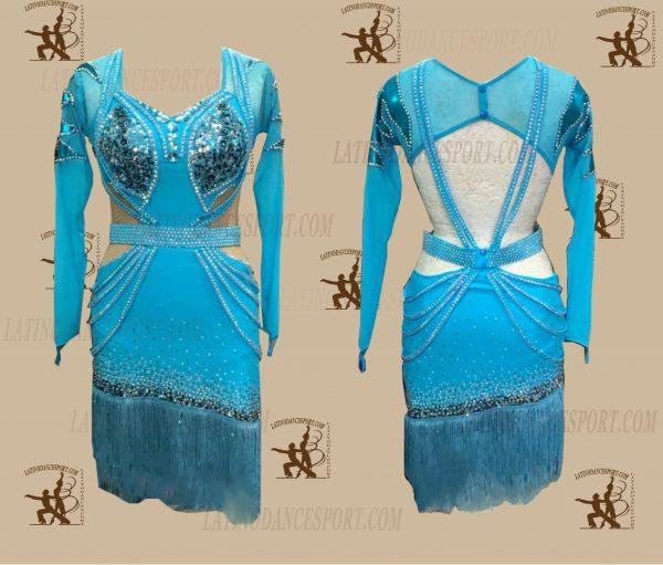 LATINODANCESPORT.COM-Ballroom LATIN RHYTHM Dance Dress-LDS-33