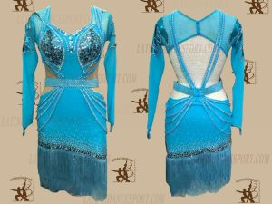 LATINODANCESPORT.COM-Ballroom LATIN RHYTHM Dance Dress-LDS-33