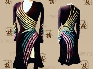 LATINODANCESPORT.COM-Ballroom LATIN RHYTHM Dance Dress-LDS-50