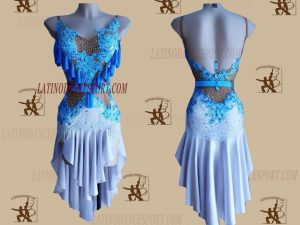 LATINODANCESPORT.COM-Ballroom LATIN RHYTHM Dance Dress-LDS-55