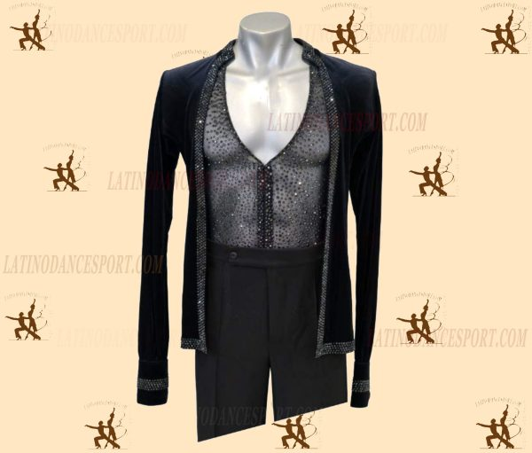 LATINODANCESPORT.COM-Ballroom LATIN RHYTHM Dance Body Shirt-MDS-03a