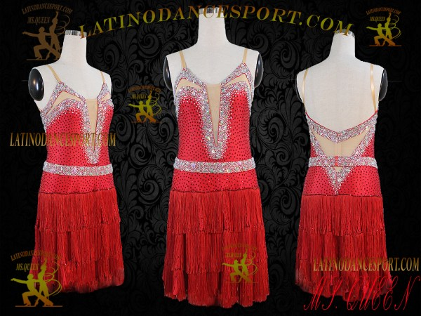 Latinodancesport.com Ballroom latin rhythm Dance Dress-LDS-54