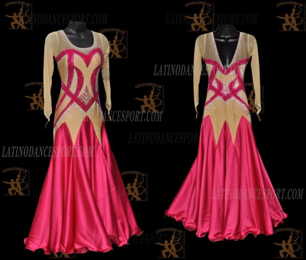 LATINODANCESPORT.COM-Ballroom STANDARD SMOOTH Dance Dress-SDS-03