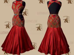 LATINODANCESPORT.COM-Ballroom STANDARD SMOOTH Dance Dress-SDS-07