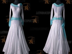 LATINODANCESPORT.COM-Ballroom STANDARD SMOOTH Dance Dress-SDS-12