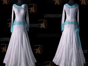 LATINODANCESPORT.COM-Ballroom STANDARD SMOOTH Dance Dress-SDS-12