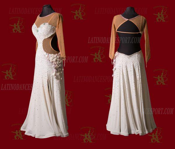 LATINODANCESPORT.COM-Ballroom STANDARD SMOOTH Dance Dress-SDS-17